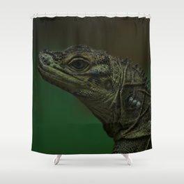 Philippine Sailfin Lizard Shower Curtain
