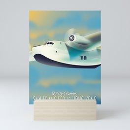 San Francisco To Hong Kong Travel poster Mini Art Print