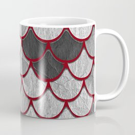 Drain Scales with Red Outlines Coffee Mug