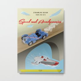 Streamline Design Poster Metal Print