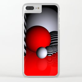 go red -3- Clear iPhone Case
