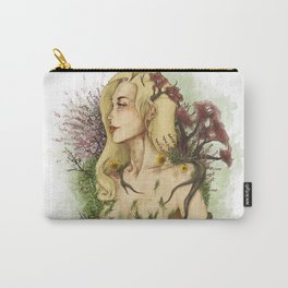 """Watercolor Painting of Picture """"Profile Woman"""" Carry-All Pouch"""