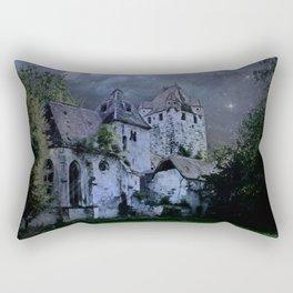 Darkness Halloween Castle Rectangular Pillow