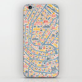 Amsterdam City Map Poster iPhone Skin