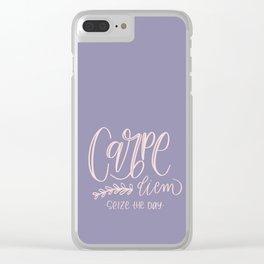 Carpe diem - seize the day Clear iPhone Case