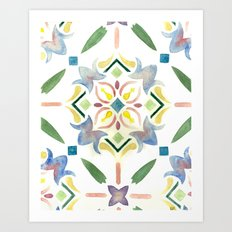 Repeating Floral Pattern Art Print