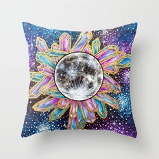 Crystal Moon Throw Pillow