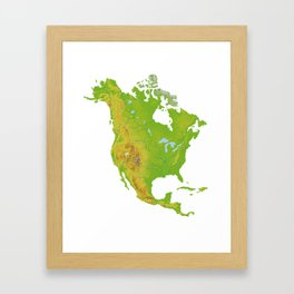 Physically North America Framed Art Print