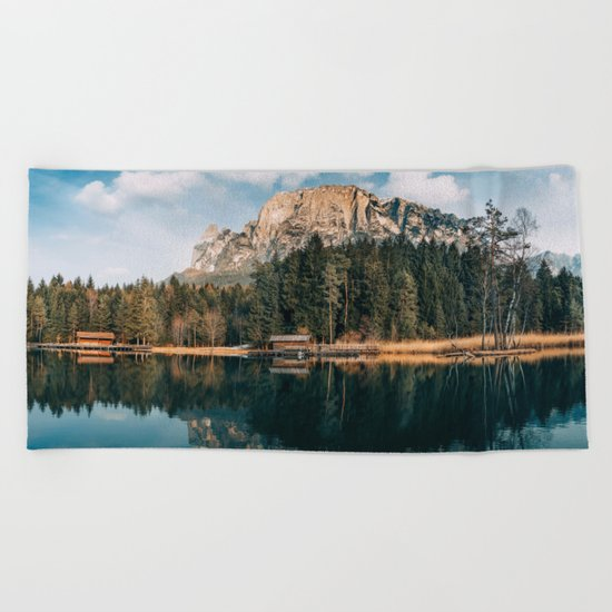 wanderlust landscape Beach Towel