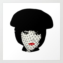 Mrs White Art Print
