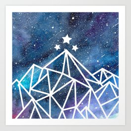 Watercolor galaxy Night Court - ACOTAR inspired Art Print