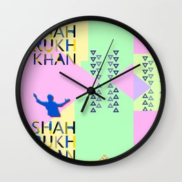 Shahrukh Khan Art Wall Clock