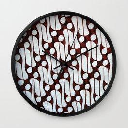 Batik Art Patterns Wall Clock