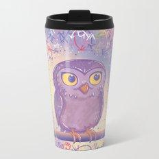 Enchanting Little Owl Metal Travel Mug