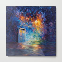 Tardis Doctor Who Rainbow Abstract Metal Print