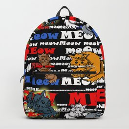 Meow meow cats Black Backpack