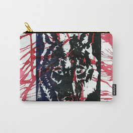 Splattered Wolf Carry-All Pouch