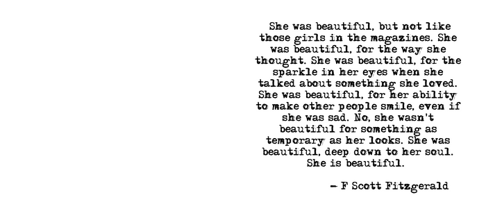 She was beautiful - Fitzgerald quote Kaffeebecher