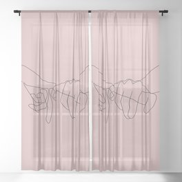 Blush Pinky Sheer Curtain