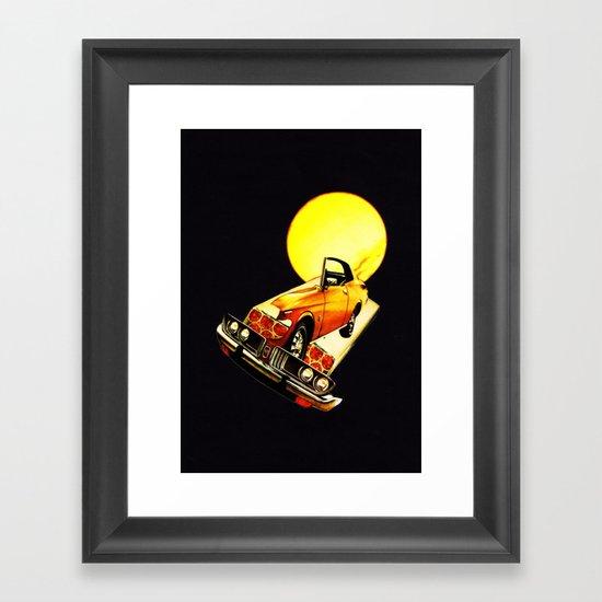 serene car Framed Art Print