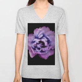 Indulgent Darkness, Violet Peony Unisex V-Neck