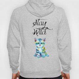 Stay Wild - kitten illustration Hoody