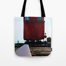 The track and the Train Tote Bag