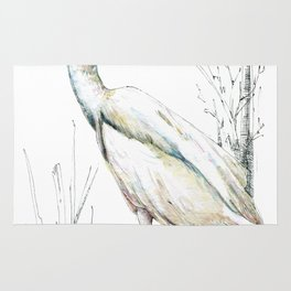 Mr Kotuku , New Zealand White Heron Rug