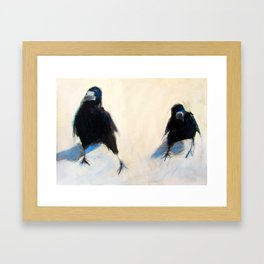 'Whats up, Lads?'  (2 Crows) Framed Art Print
