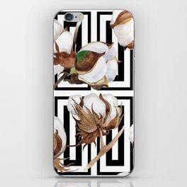 Cotton Flower Pattern 07 iPhone Skin