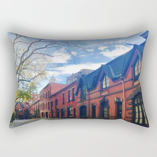 STOP For Brooklyn Heights Brownstone Red Brick Love Rectangular Pillow