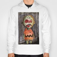 charlie brown Hoodies featuring You're a zombie Charlie Brown by byron rempel