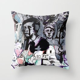 The Purple Mercury People Throw Pillow
