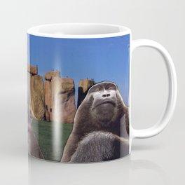 Monkeys at Stonehenge Coffee Mug