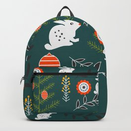 Winter holidays with bunnies Backpack