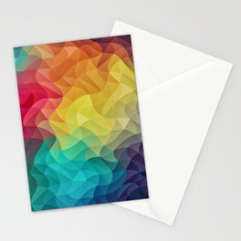 Abstract Color Wave Flash Stationery Cards