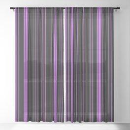 Black and purple, dark and light Sheer Curtain