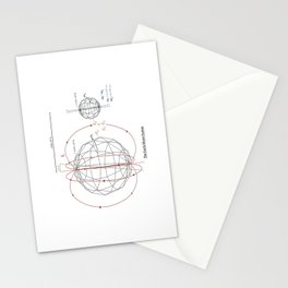 The Earth-Moon System Stationery Cards