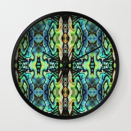 Abalone Symmetry Wall Clock