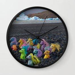 My Little Sea Ponies in Patagonia Wall Clock