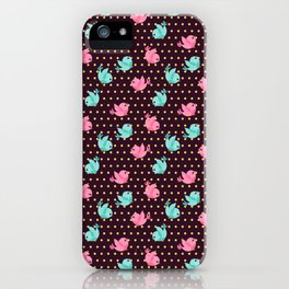 Freely Birds Flying - Fly Away Version 1 - Wine Color iPhone Case