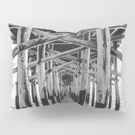 Balboa Pier Print {3 of 3} | Newport Beach Ocean Photography B&W Summer Sun Wave Art Pillow Sham