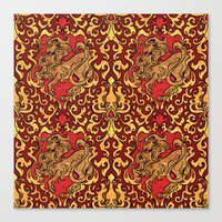 gryffindor Canvas Prints featuring Gryffindor by Cryptovolans