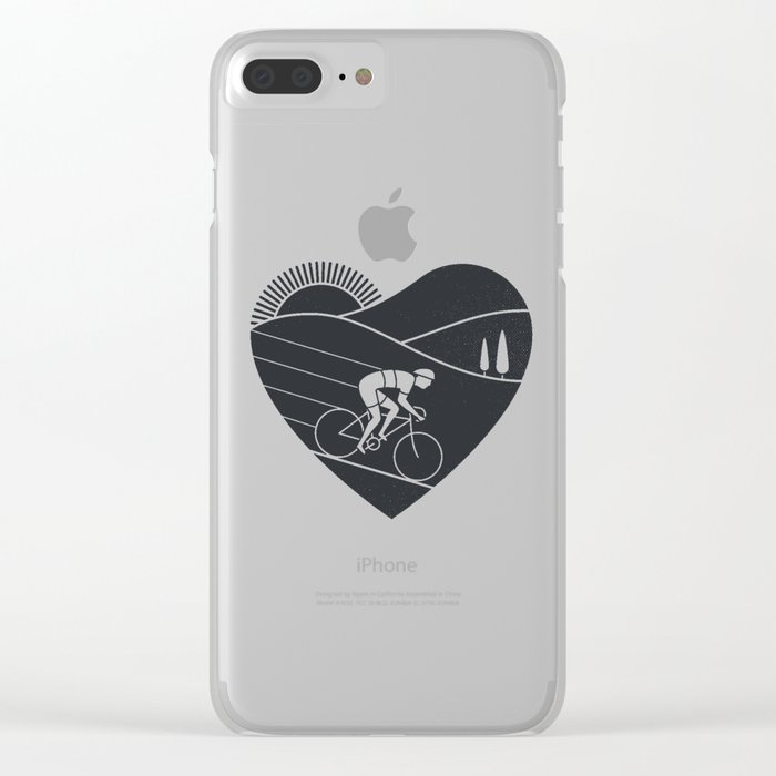 Love Cycling Clear iPhone Case