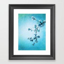 BLUE SPRING Framed Art Print
