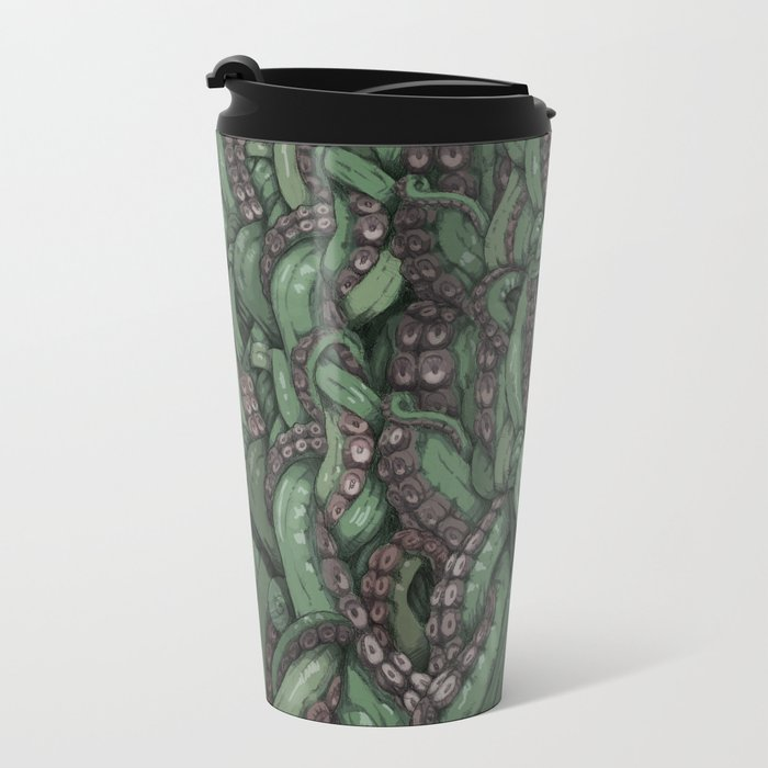 Tentacle Wall Metal Travel Mug