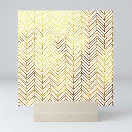 Gold Chevron Pattern Mini Art Print