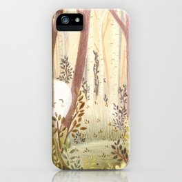 Little ghost in the woods iPhone Case