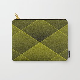 Plush Olive Green Diamond Carry-All Pouch