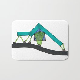 Abstract Geometric Tent Spaceship106 Bath Mat